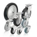 比克力Blickle 3系列 采用标准实心橡胶轮胎和橡胶胎面的单轮和脚轮