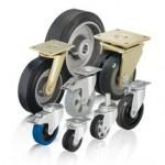 比克力Blickle 5系列 采用弹性实心橡胶轮胎的重型负载单轮和脚轮