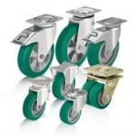 比克力Blickle 9系列 采用Blickle Softhane 浇铸聚氨酯胎面的重型负载单轮和脚轮