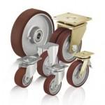比克力Blickle 12系列 采用Blickle Besthane 浇铸聚氨酯胎面的重型负载单轮和脚轮